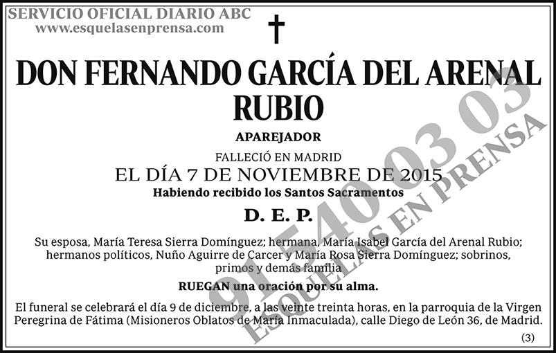 Fernando García del Arenal Rubio